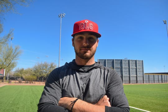 Riley Smith sports the Reno Aces' new alternate cap.