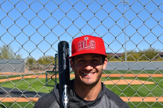 Ben DeLuzio sports the Reno Aces' new alternate cap.
