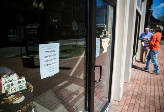 A closed storefront on Main Street in downtown Richmond. PI File.