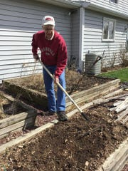 Steve Reiners works in his home garden. He is professor/chair in horticulture at Cornell AgriTech at Cornell University.