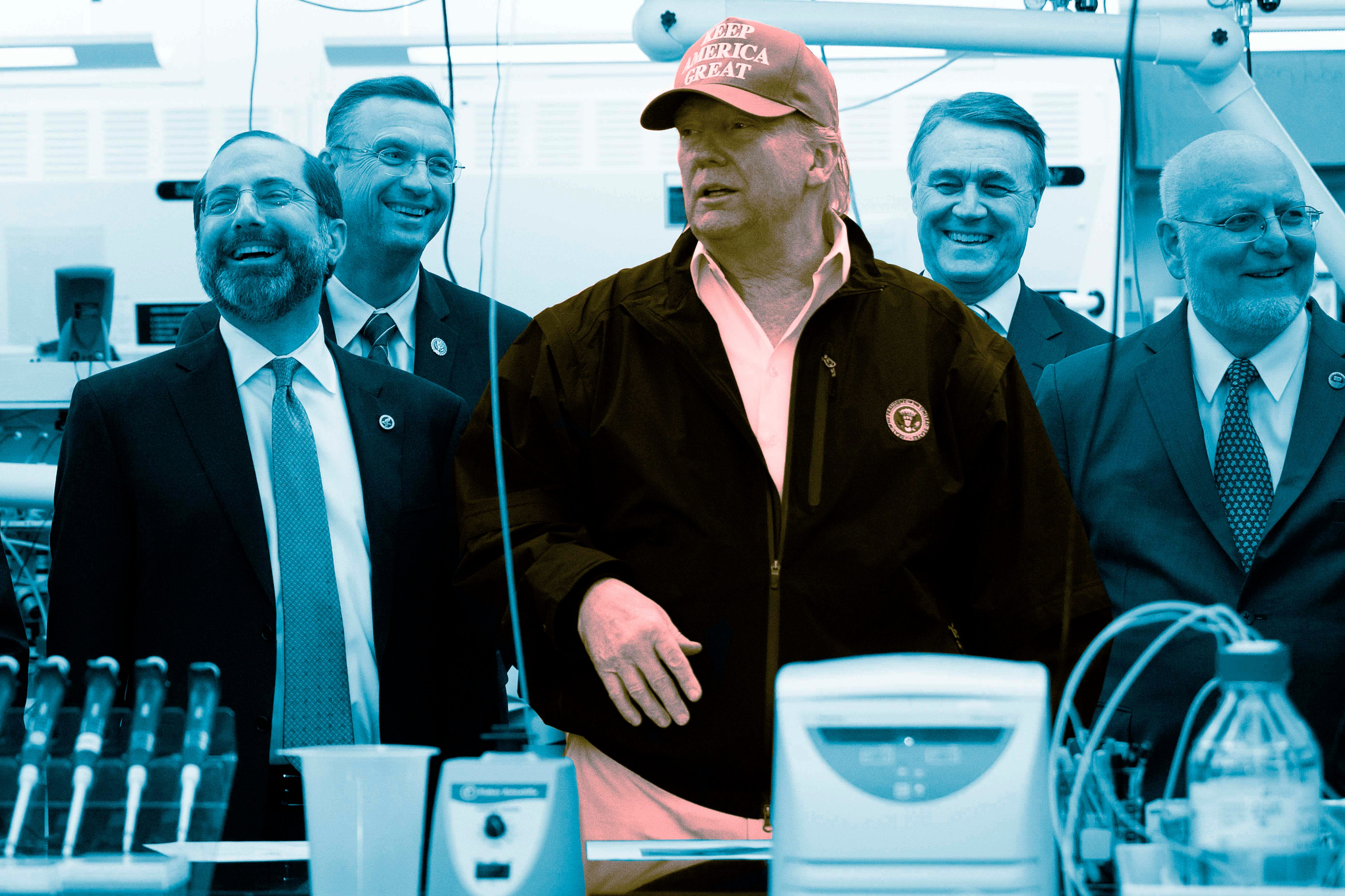 Trump tours the CDC.