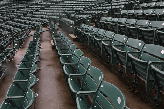 The seats at Frontier Field.