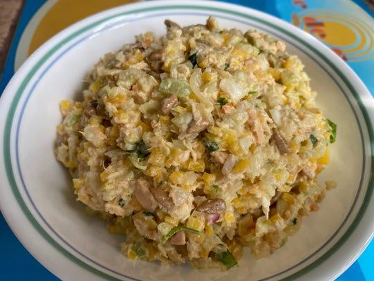 Tuna salad with a crunch