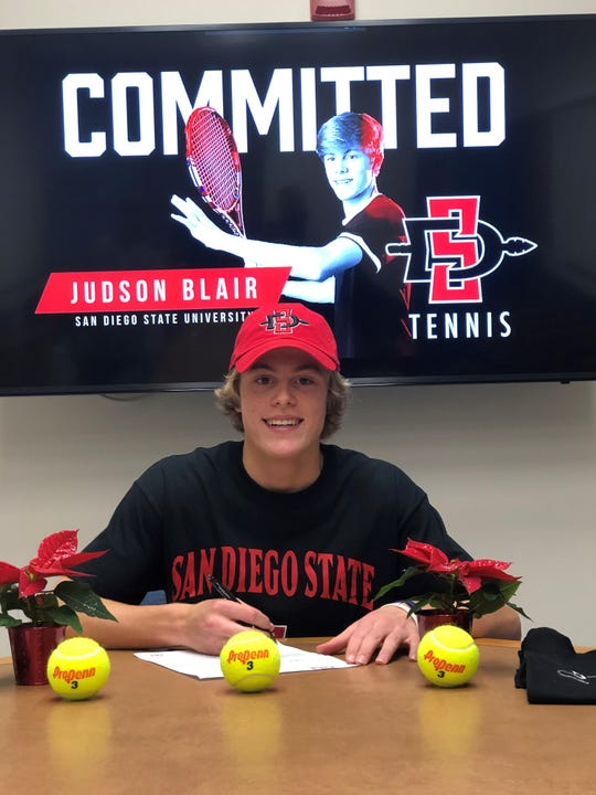 Sprague tennis player Judson Blair signs to play at San Diego State.