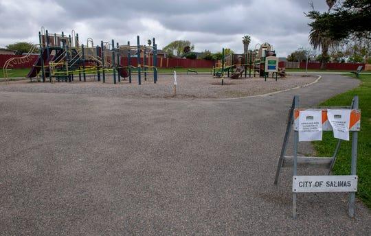 Laurel Heights Park is one of the many parks closed in the city of Salinas to prevent the spread of COVID-19 cases in Monterey County.