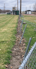 Fencing down the third baseline into left field hasn't been repaired since the Big Sioux River flooding in the fall of 2019 at Rickeman Field.
