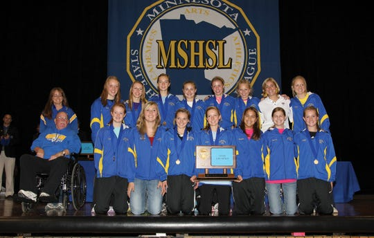 The Cathedral Girls Cross Country team won their first-ever state title on Nov. 5, 2011.