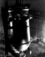 Indian Point's Unit 2 reactor under construction in 1968.