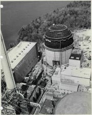 Indian Point's Unit 2 reactor building under construction in the late 1960s.