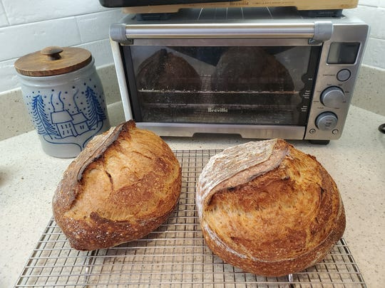 Rachel Katz Brunke's homemade sourdough bread.