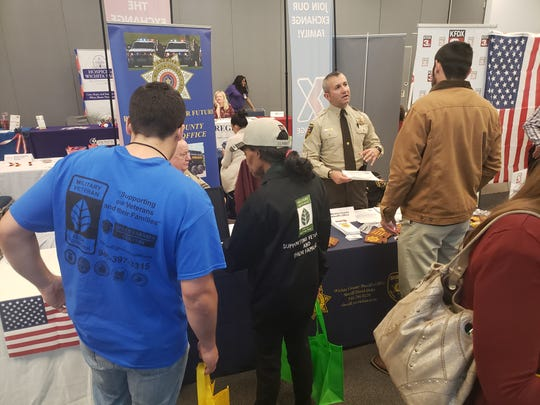 The Wichita County Sheriff's Office recruits at a recent Workforce Solutions North Texas job fair.