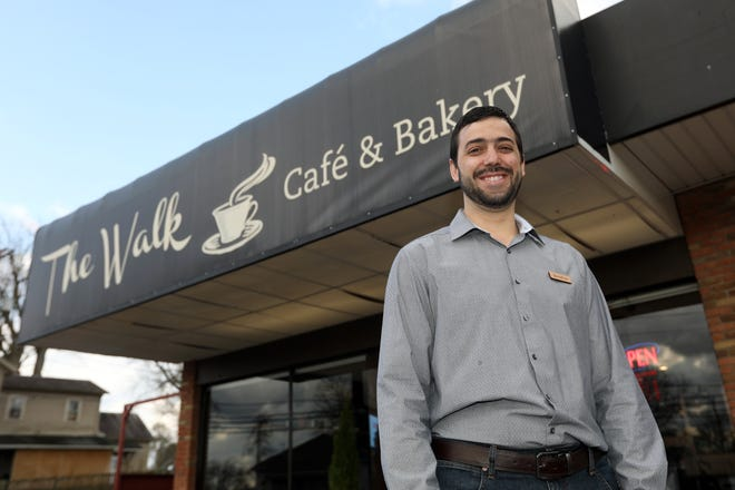 Jonathan Stutzman is the general manager of The Walk Cafe & Bakery on Maysville Avenue in Zanesville. The restaurant is open for carryout, and is doing delivery, especially for people at high risk of serious complications from the COVID-19 virus, and the medical field.