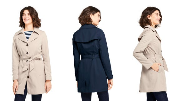 Save on a stylish new trench coat for spring.