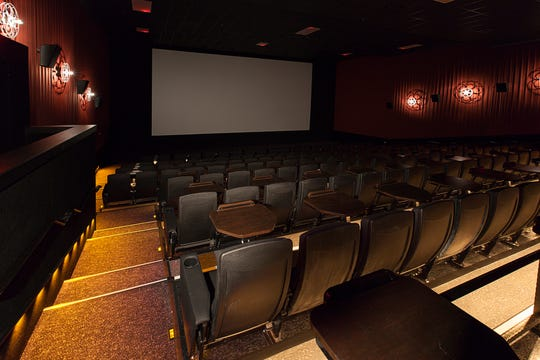 Inside one of the theaters at Alamo Drafthose Cinema's Brooklyn location.