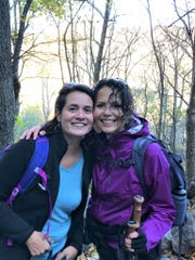 Citizen Times outdoors reporter Karen Chávez, right, and her sister, Dawn Chávez, can be found hiking, seen here in fall 2019, most weekends except during a global pandemic.