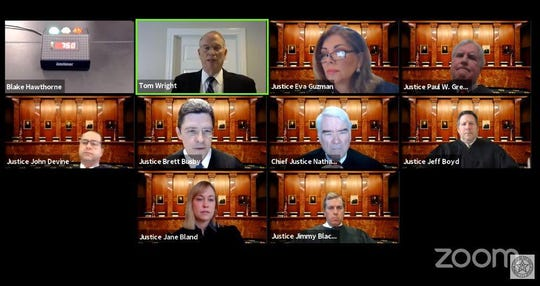 The Texas Supreme Court holds oral arguments in three cases Wednesday, meeting remotely by Zoom with the event shown live on the court's YouTube channel.
