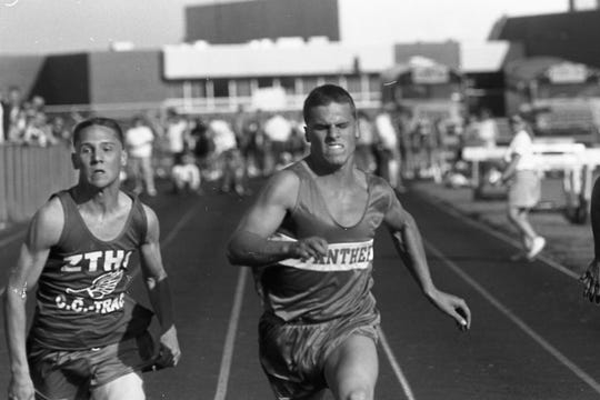 Southeastern sprinting specialist Bob Lalumondier dashed to victory in the 100 at the Scioto Valley Conference meet in 1994. The Southeastern girls and boys captured the Scioto Valley Conference track meet titles in 1994.