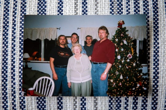 A Hahn family photo with the oldest brother, Gary, on the right. He died in a hospital on April 5 at the age of 65, succumbing to COVID-19.