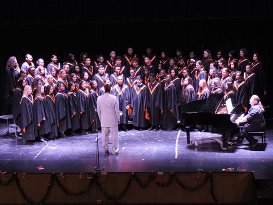 The Linden High School concert choir