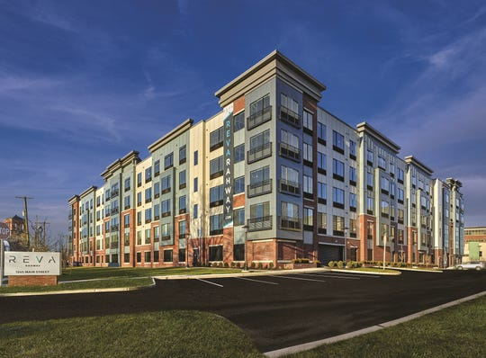 REVA Rahway features 219 studio, one- and two-bedroom apartments in a five-story building with various amenities at 1245 Main St., Rahway.