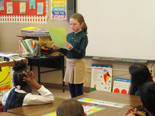 Gabriella Maciorowski of Neptune City shares her memoir with classmates, parents and teachers.