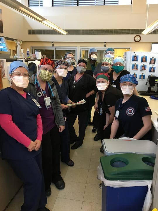 The staff from the emergency department at Hunterdon Medical Center in Flemington.