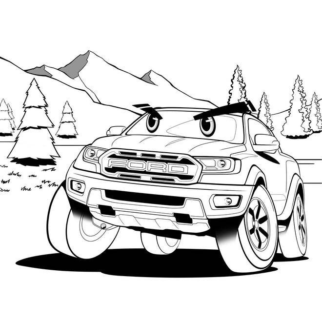 Ford Designers Create Coloring Book Pages For Kids And They Re Free