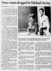 An April 1989 Detroit Free Press page featuring the murder trail of Susan Farrell.