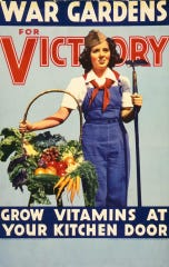 Victory garden poster from when they began during World War I and II.