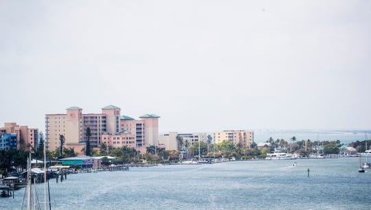 The Pink Shell resort on Friday April, 10, 2020. The Fort Myers Beach resort is not taking reservations because of the novel coronavirus.