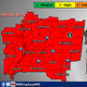 There is a moderate risk of severe weather with the likelihood of tornadoes forecast for Easter Sunday.