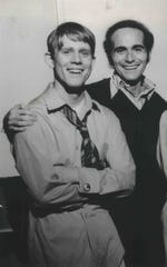 "Producer Thomas L. Miller, right, takes a minute with Ron Howard in 1974, the year (left) ""Happy Days"" debuted on ABC. Miller drew from his memories growing up in Milwaukee for the popular series."