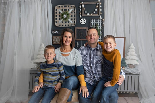 The Hartman family in Oak Creek has, like other families, had to adjust to the reality of virtual learning. One of their twin sons, Luke, has autism. Pictured are, from left, Luke, Jamie, Jesse and Jack Hartman.