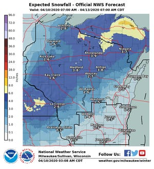 An Easter weekend snowstorm appears headed for Wisconsin.