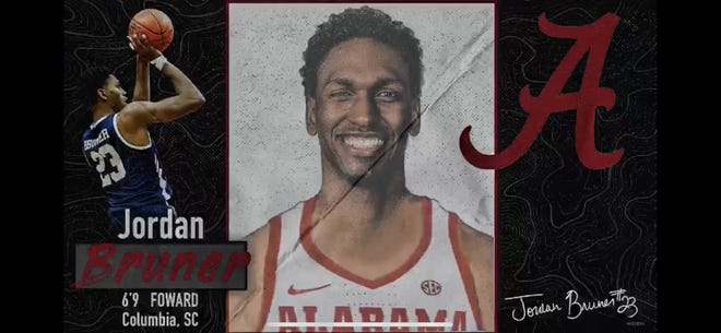 Yale graduate transfer Jordan Bruner announced his commitment to Alabama through a video posted on Instagram on Friday. He becomes the fifth member of the Crimson Tide's 2020 recruiting class. (Screenshot by Alex Byington/Montgomery Advertiser)