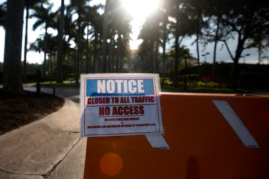 The Ritz-Carlton Golf Resort remains closed to the public as of Wednesday, April 10, 2020 in North Naples.