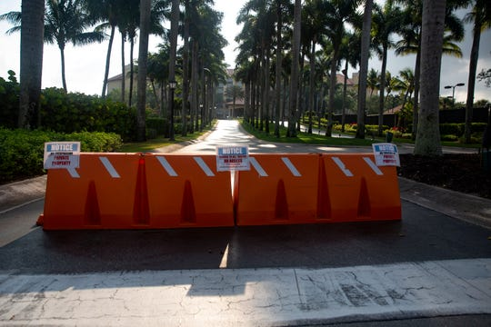 The Ritz-Carlton Golf Resort remains closed to the public as of Wednesday, April 10, 2020, in North Naples.