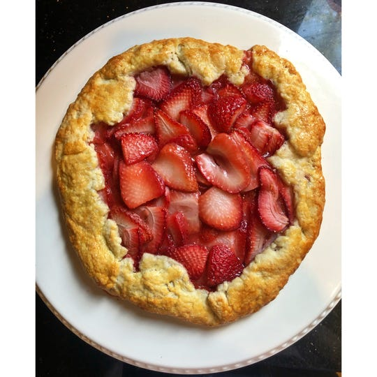 The recipe for this strawberry gallette comes from Alli VanProoyen's recipe blog, Sassy, Broke and Hungry.