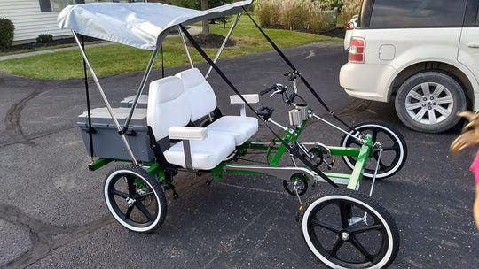 Newark police said a motorized, four-wheel bicycle, valued at $5,000, was stolen between March 3-5 in Newark.