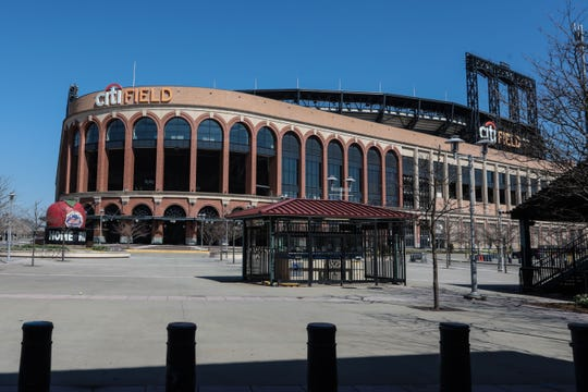 Mar 26, 2020; New York City, New York, USA;  A general view of Citi Field.  The season opener between the Washington Nationals and the New York Mets has been postponed due the coronavirus COVID-19 pandemic.