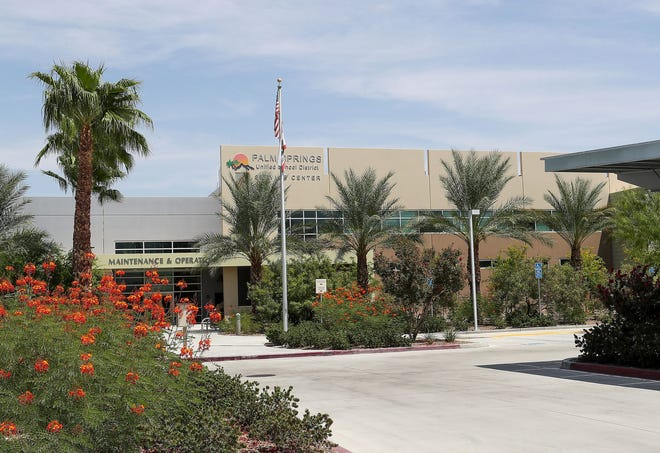The Palm Springs Unified School District maintenance and operations building in Palm Springs.