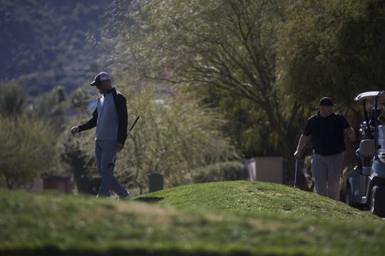 Guests enjoy a round of golf at Mountain Shadows Resort in Scottsdale, Ariz. on February 13, 2020.