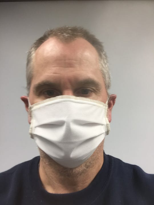 The masks manufactured at Mister Bobbin Embroidery in Annville are made of a polypropylene outer surface and soft nylon facing against the skin.