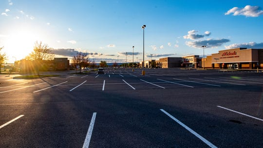 Shopping centers throughout Chambersburg are relatively empty, April 8, 2020.