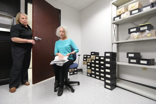 """Chester County Coroner Dr. Christina VandePol — seen here with office manager Patty Emmons — said her office has had two positive COVID-19 test results come back from deaths that occurred """"at home or in the community."""""""