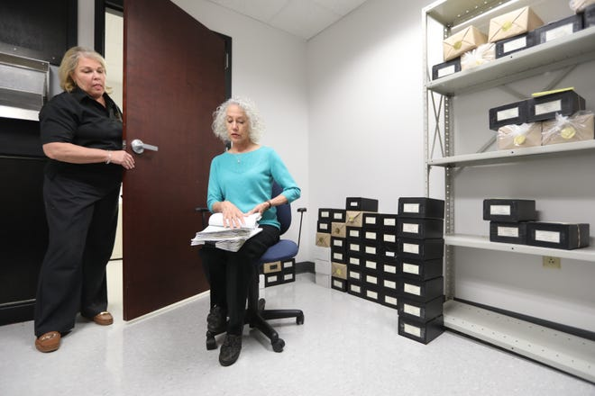 "Chester County Coroner Dr. Christina VandePol — seen here with office manager Patty Emmons — said her office has had two positive COVID-19 test results come back from deaths that occurred ""at home or in the community."""
