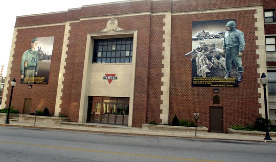 In this photo from Nov. 17, 2003, the Jacob Devers mural is pictured on the York YMCA on North Newberry Street.