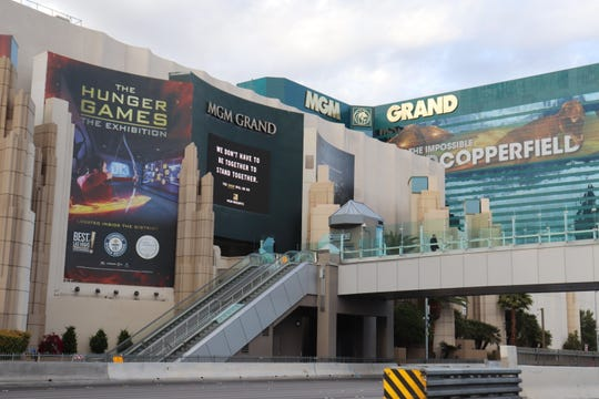 Sidewalks and walkways near the MGM Grand
