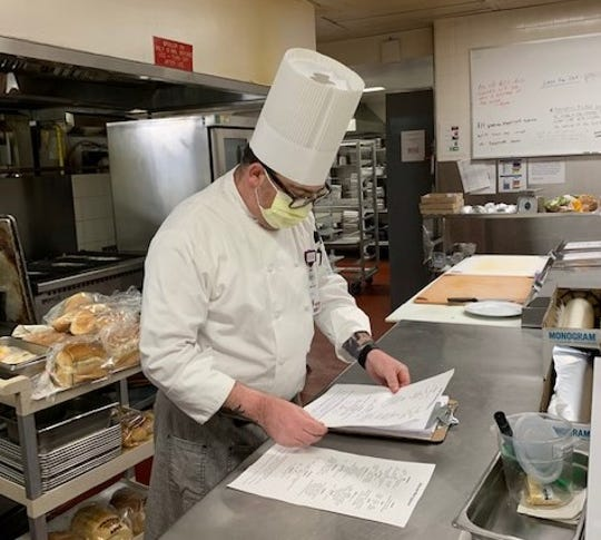 Justin Bart, executive chef of Renown Health, has prepared plans to feed patients and staff during a coronavirus patient surge. Bart oversees culinary programs for the three Renown properties, including its flagship regional medical center.