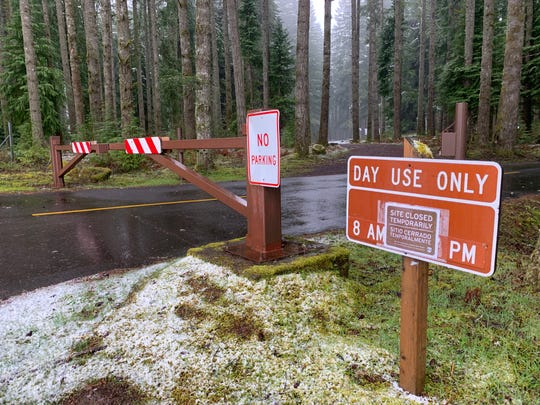North Falls entry at Silver Falls State Park is closed.